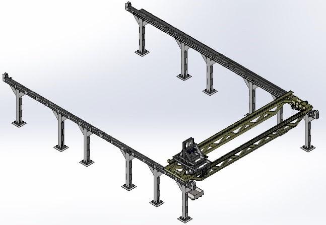 Diseño de un pórtico de carga automática